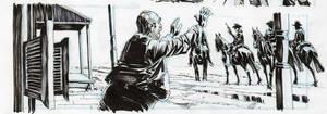 All Star Western #33 panel. by StazJohnson