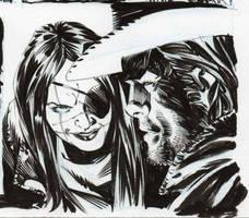 All Star Western #33 panel (2) by StazJohnson