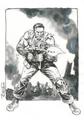 Sgt Fury, inktober sketch by StazJohnson