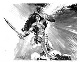 Warrior Wonder Woman inked by StazJohnson