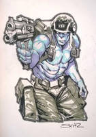 Rogue Trooper convention sketch. by StazJohnson