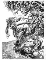 Aliens vs Predator, private commission by StazJohnson