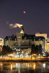 Saskatoon during the blue red moon! by Massari619