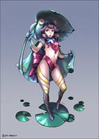 frog girl by Nawol