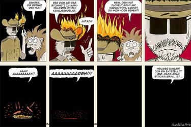 Dir brennt der Hut! by rangerundloewe