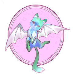 (CLOSED) AUCTION Dragon Cat: Felix by sweetheartadopt