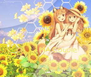 [12] Wallpaper Couple Sunflower by Apis-Chucheoo