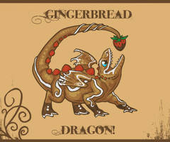 Gingerbread Dragon Junior by zilowar