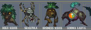 Zelda OoT monsters 1 by MaxGrecke