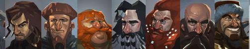 THE HOBBIT: all 13 dwarves by MaxGrecke