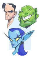 Wow Head sketches by MaxGrecke