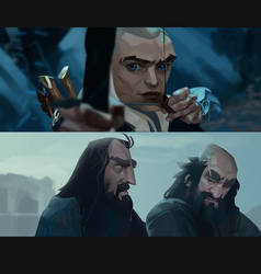 The Hobbit studies by MaxGrecke