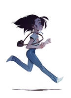 Just a girl running by MaxGrecke