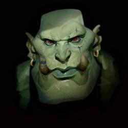 Orc Head by MaxGrecke