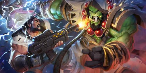Raynor vs Thrall by MaxGrecke