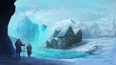 Crystally Snow - Concept Art environment by timapersson