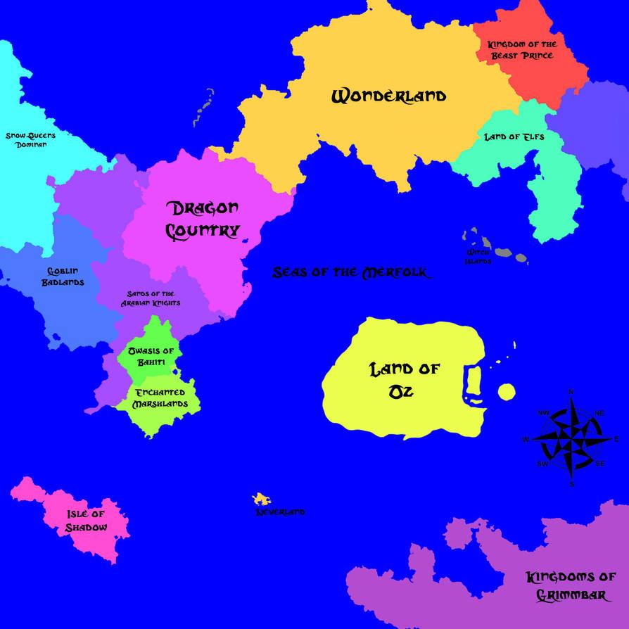 Fairy Tale World Map by Xelku9 on DeviantArt