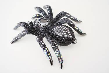 Giant Black Tarantula Brooch 2 by ILOVEEXPERIMENT626