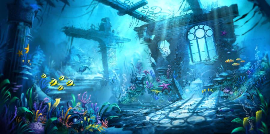 Underwater Ruins by artofjokinen
