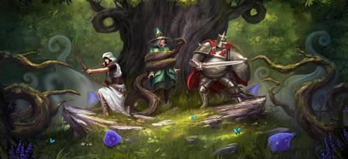 In the Forest by artofjokinen