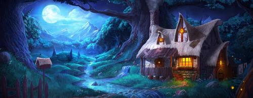 Wizard's Cabin by artofjokinen