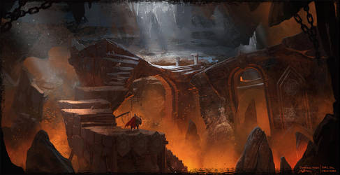 Dwarven Caverns Concept Art by artofjokinen