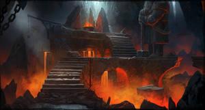 Dwarven Caverns Concept Art 2 by artofjokinen