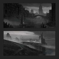 Composition sketches 1 by artofjokinen