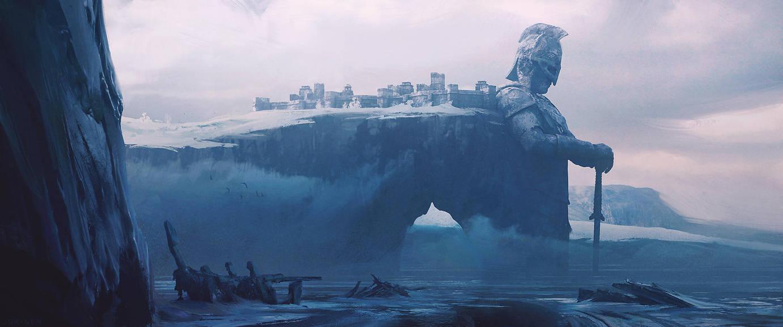 Cliffs of Ereth Agoir by artofjokinen