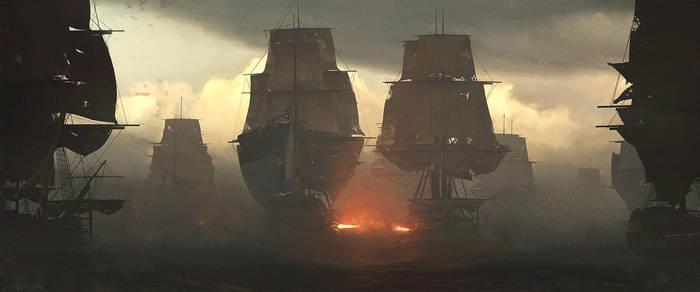 Battle of the Nile 1798 by artofjokinen