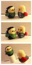 Loki-bird and Thor-bird by cat-cat
