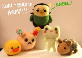 Loki-bird's Army by cat-cat