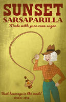 Sunset Sarsaparilla Poster by LaggyCreations