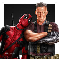 Deadpool And Cable by dimitrosw