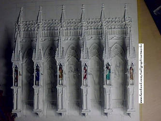 Finished Facade with Buttresses by calligraphyartworks