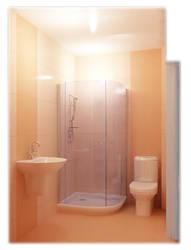 Orange Bathroom by spybg