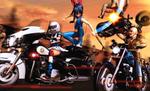 Biker gang by RaikuHoshigami