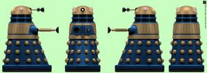 Arcade Blue Dalek by Librarian-bot