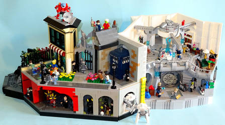Lego Doctor Who Diorama by Librarian-bot
