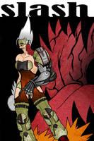 Quake 3 Fan ARt - Slash 2 by lone-wolf-boudin