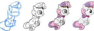 Evolution of a Sweetie Belle by SterlingPony