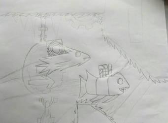 [Sketch] GD art - Riot V.S. Cyclic by NuclearGallade25