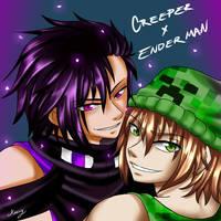Creeper x Enderman by Kazvy
