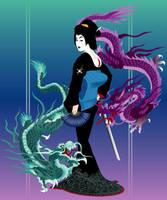 Yakuza Geisha Final by littlebeegraphics