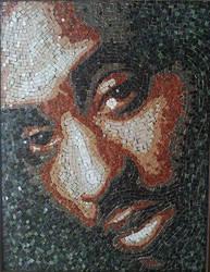 Ceramic Mosaic Tupac Shakur by Radan22