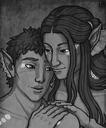 PE: Wyst and Narcissus by bleuphoria