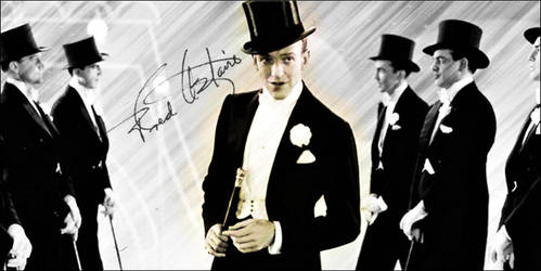 Fred Astaire Autographed Banner by HarleyRoux