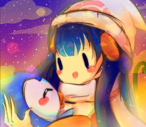 Poke:Hikari and Pochama by iingo