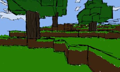 Minecraft Terrain Sketch by jamesdude55