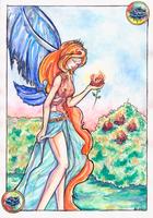 Burning Rose by Verbeley